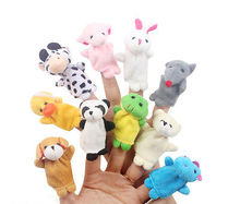 10pcs Baby Kids Play Game Learn Story Dolls Finger Animal Puppets Velvet Toys(China (Mainland))