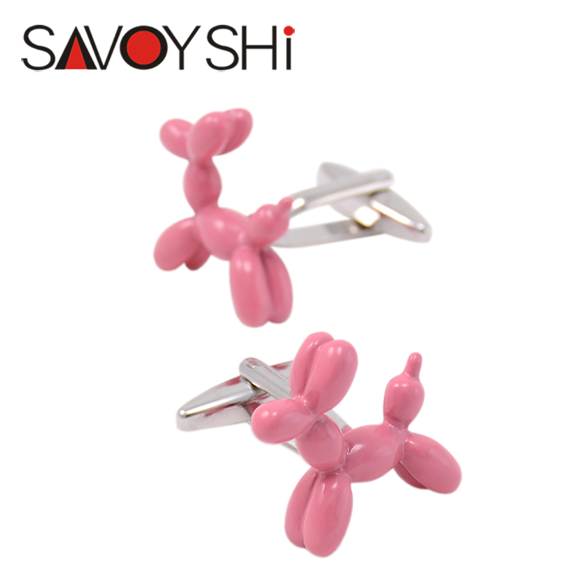 2 Colors Balloon Gog Cufflinks For Mens High Quality Pink Blue Paint Fashion Cuff links Party Gift SAVOYSHI Brand Jewelry(China (Mainland))