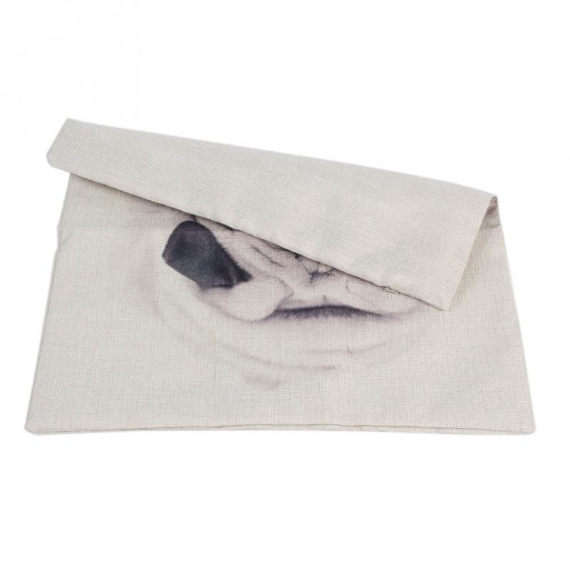 Silence Dog Pillowcase Square Cotton Linen Pillow Case Cushion Cover Bed Home Sofa Decor