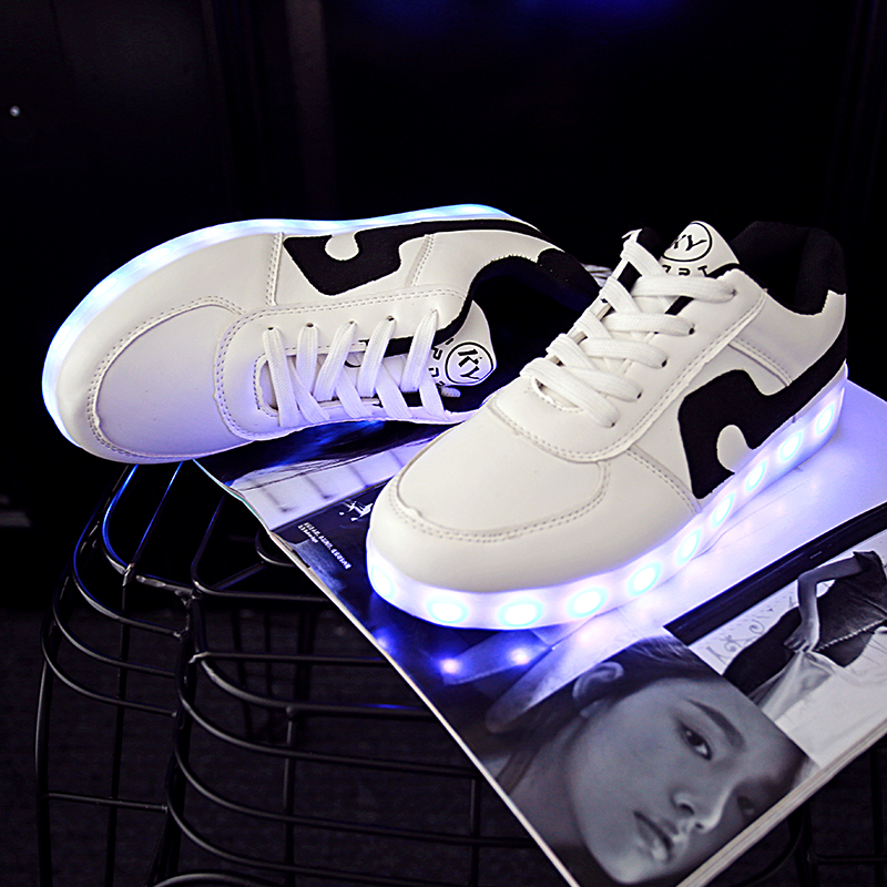 Adults Colorful Glowing Shoes Lumineuse With Usb Light Up Charger Led Luminous Shoes Simulation Sole Led Shoes For Unisex Men