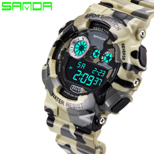 Buy Shock Men's Luxury Analog Quartz Digital Watch Men G Style Waterproof Sports Military Watches 2016 New Brand SANDA Fashion Watch for $8.30 in AliExpress store
