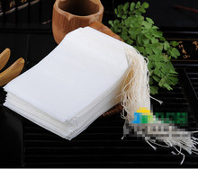 New 2015  100pcs Empty Teabags String Heat Seal Filter Paper Herb Loose Tea Bags(China (Mainland))