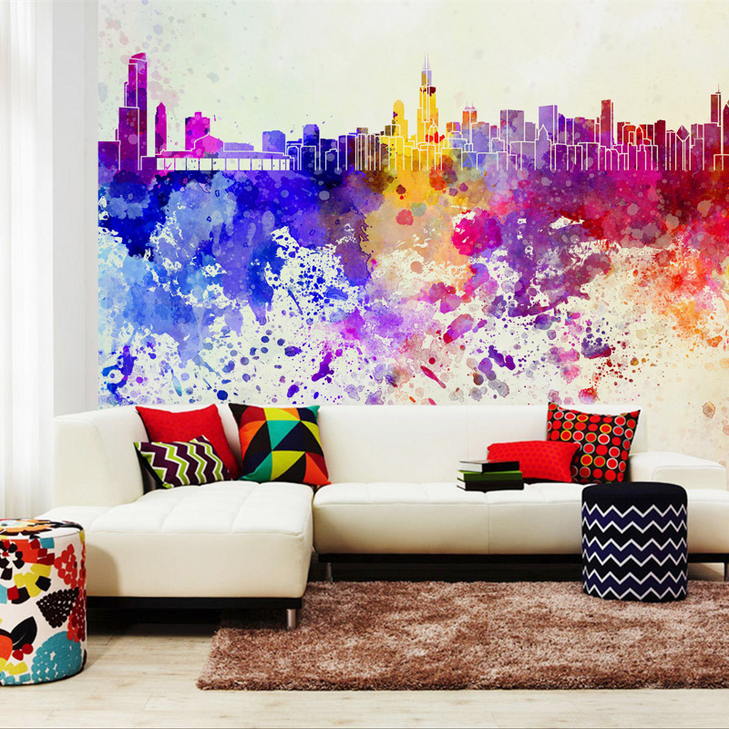 Wall mural paintings abstract the image for Mural wallpaper