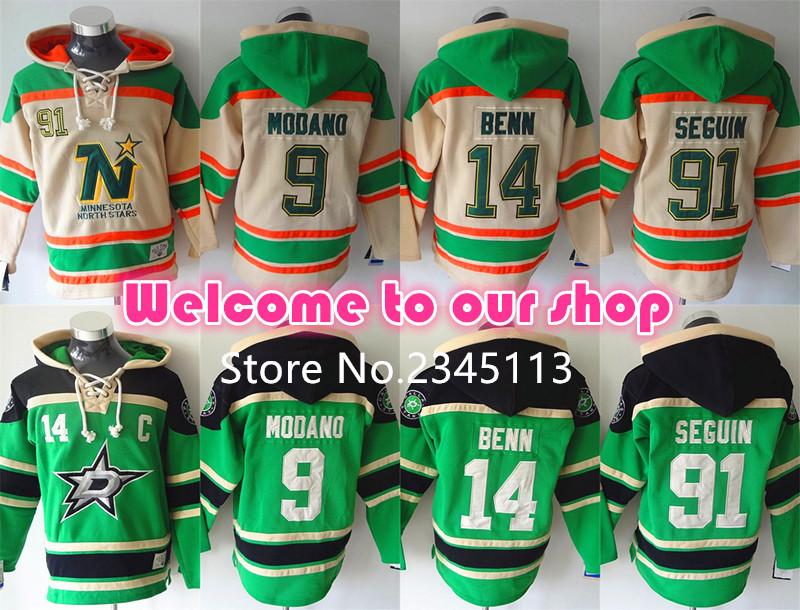 High Quality Dallas Stars Hoodie Pullover 14Jamie Benn 91Tyler Seguin Hoody, Mike Modano, Patrick Sharp Hockey Hoodie Sweatshirt(China (Mainland))