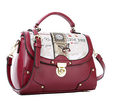 Preppy Style Women's Leather handbag Fashion Messenger bag All-much Casual one shoulder cross-body bag 1/3(China (Mainland))