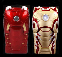 """New Version 3D Cool Hero Avengers Iron Man Ironman Armor Led Flash Light Hard Case Cover For Apple iphone 5 5S 6 4.7"""" Protector"""