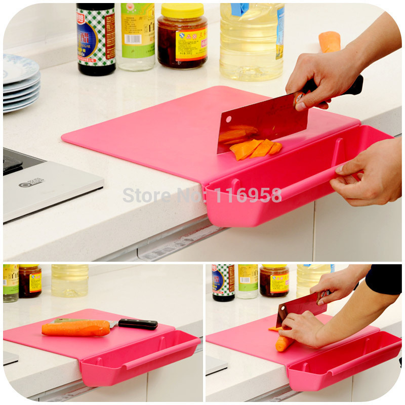2015 Plates for Engraving Antibacterial Odor-free Kitchen with A Thick Non-slip Cutting Board Combo Dish Basket Removable J0211
