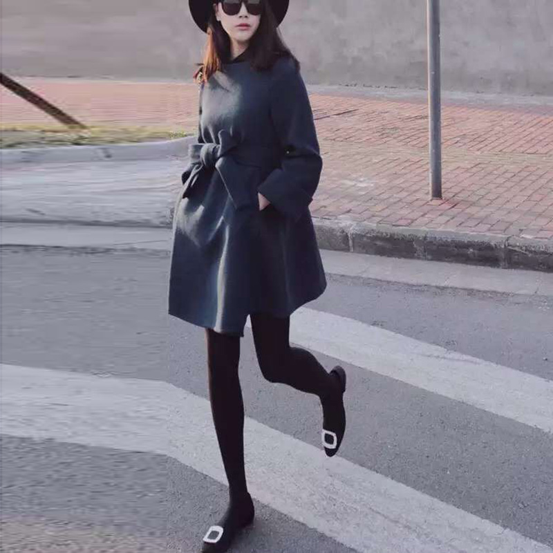 Hot sale women coat winter jacket wool coat  2015 New fashion Korean Long sleeve female coat Casual woolen coats Slim 7762