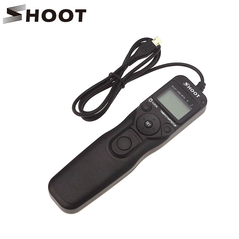 SHOOT RR-90 LCD Timer Remote Shutter Time-lapse Photography Device for Fuji RR-90 Fujifilm X-T1 X-M1 X-A1 X-A2 Camera(China (Mainland))