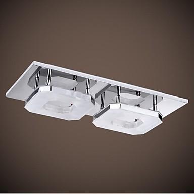 Acrylic flush mount modern led ceiling lamp light with 2 lights for living room home lighting for Flush mount ceiling lights living room