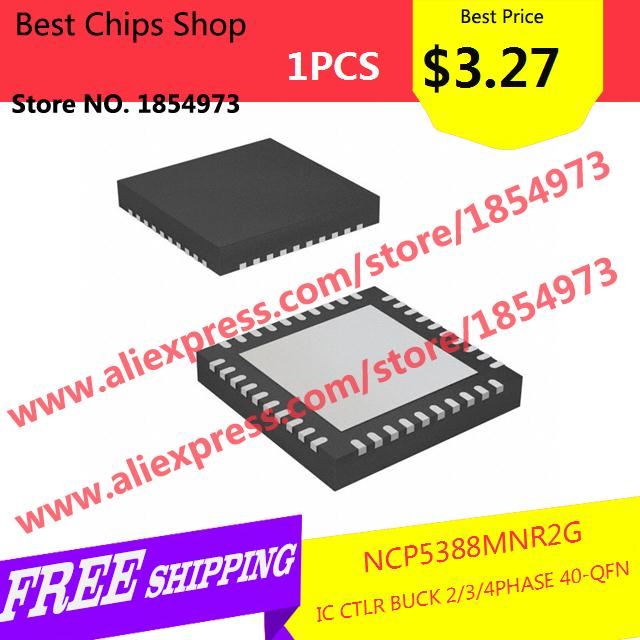 Free Shipping 1PCS=$3.27 Hot Sale Smart Electronics Integrated Circuit NCP5388MNR2G IC CTLR BUCK 2/3/4PHASE 40-QFN 5388 NCP5388(China (Mainland))