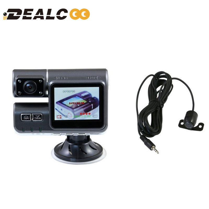 Фотография Dual Lens Camcorder i1000 Car DVR Dual Camera HD 1080P Dash Cam Black Box With Rear 2 Cam Vehicle View Dashboard Cameras no GPS