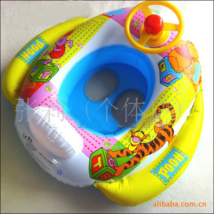 manufacturers selling children sit / boat / toy boat floating swimming ring with steering wheel horn(China (Mainland))