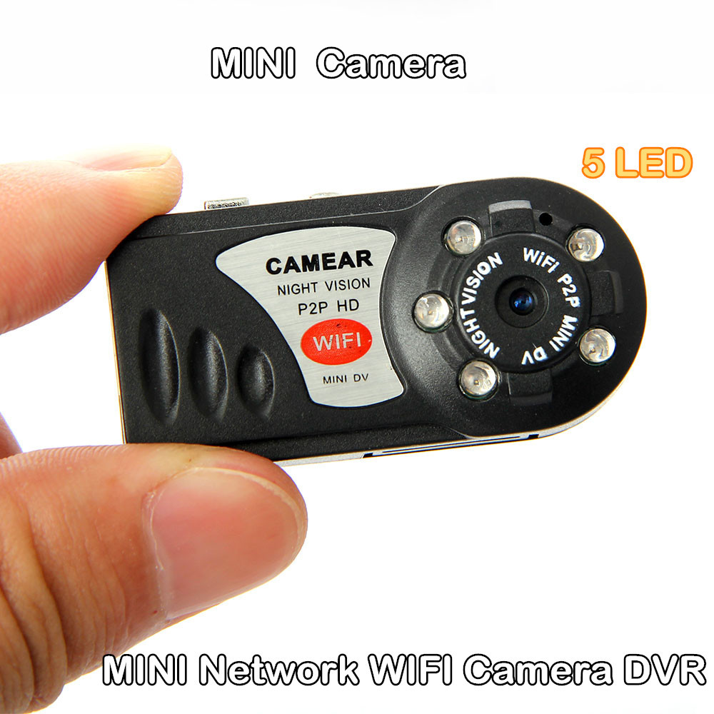Finger-size HD mini hidden wifi camera DV Wireless IP Camera Video wifi Remote by Phone Mini Camcorders support APP Android 5LED(China (Mainland))