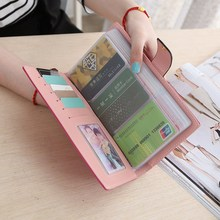 Buy AEQUEEN 65 Card Slots Credit Card Holders Leather Women Storage Bags Long Wallet Large Capacity Business Bank Holders Organizer for $9.01 in AliExpress store