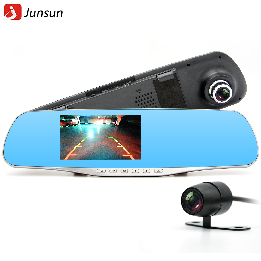 2016 Car Camera Dual Lens Rearview mirror DVR Full HD 1080P Recorder Video Registrar Camcorder Night Vision Black Box(China (Mainland))