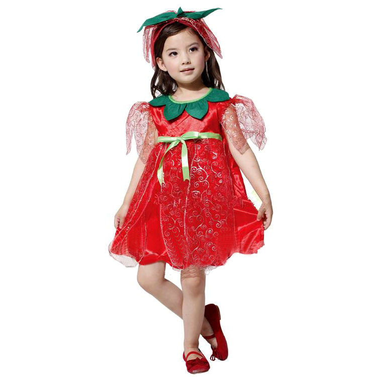 Halloween Angel Costume Dress Dance Performance Clothing Serving Rose Fairy Children(China (Mainland))