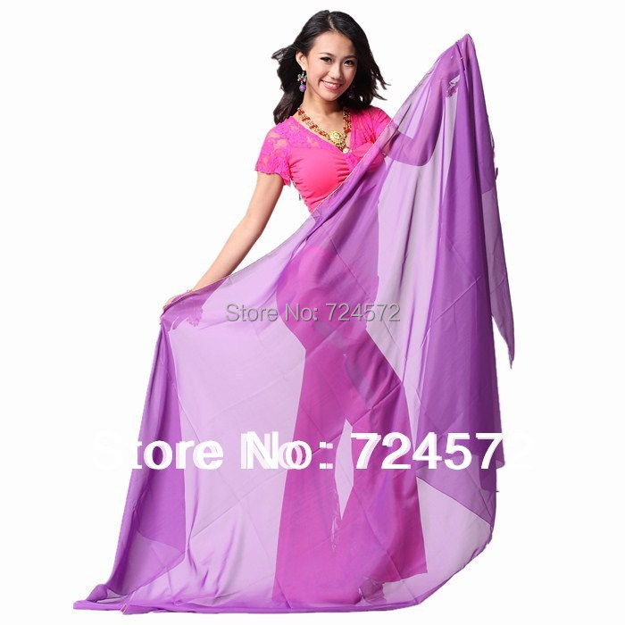 Belly dance accessories big yarn veil 2.4 1.2m belly dance veils(China (Mainland))