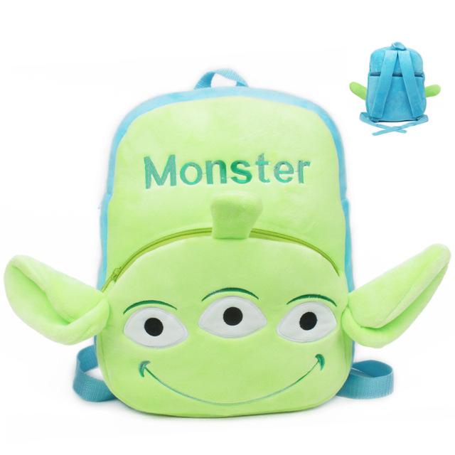 Высокое качество три глаза монстр плюшевые мультфильм рюкзак дети характер мешок подарок для детей в возрасте 3 - 5 Mochila Infantil