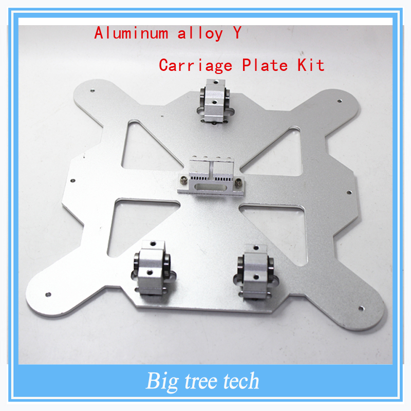 3 D printer parts Reprap Mendel Prusa i3 all metal aluminum alloy Y Carriage Plate Kit