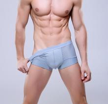Breathable Mesh Silk Men's Boxer  Four Corner Underwear Wholesale New 2016 Underwear Men Cotton Mens Bodysuit Underwear(China (Mainland))