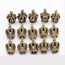 Buy 10pcs Metal Charms Antique Bronze 3D Crown Charms Pendants Jewelry findings & Components fit Necklaces Bracelets Making DIY Z277 for $1.76 in AliExpress store