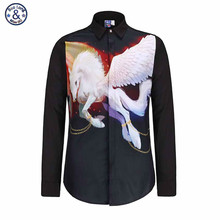 Buy Mr.BaoLong New Top Men Shirts 3D Horse Galloping Camisa Slim Fit Male Clothes Casual Dress Shirt Turn Collar Long Sleeve for $14.85 in AliExpress store