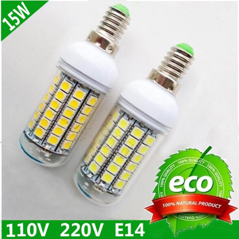 [해외]E14는 5050 220V 360도 15W 테이블 램프 매우 밝은 에너지 절..