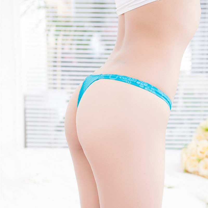 Hot 2015 New Ultra thin Ice Silk Women Seamless Traceless Sexy Lingerie Lace Knickers Underwear Thong