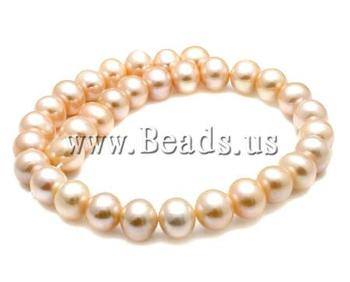 Free shipping!!!Round Cultured Freshwater Pearl Beads,Cheap, natural, pink, High Replica, 13-14mm, Hole:Approx 0.8mm