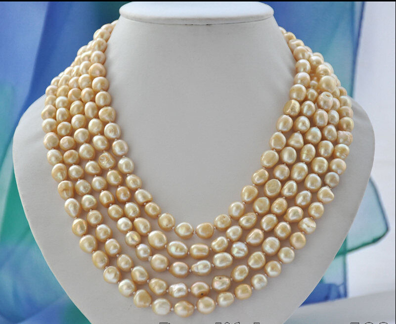 FREE shipping&gt; &gt;&gt;&gt;Long 12mm champagne baroque freshwater pearl necklace 100inch Z6840<br><br>Aliexpress