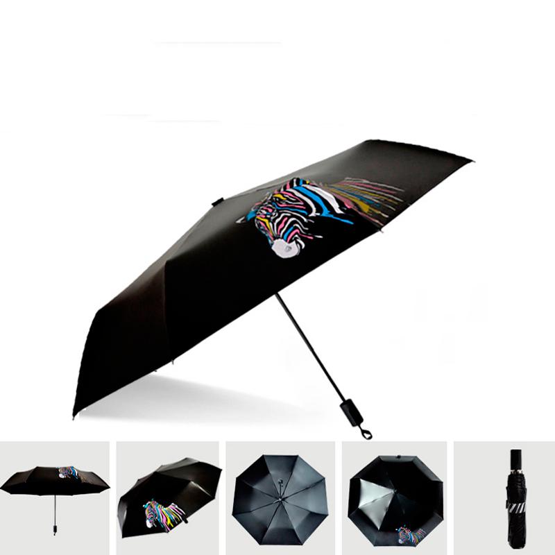 Magic Creative Water Change Color Anti-UV Three-folding Umbrella Sunny and Rainy Parasol Umbrella Women Men U0711(China (Mainland))