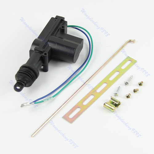 Free Shipping Top quality car door lock actuator 2-Wires Car Locking System Single Gun Type Heavy power motor with nails-PY-PY(China (Mainland))