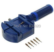 Free Shipping New Watch Link Pin Remover Band Strap Adjusting Repair Tool+5 extra pins(China (Mainland))