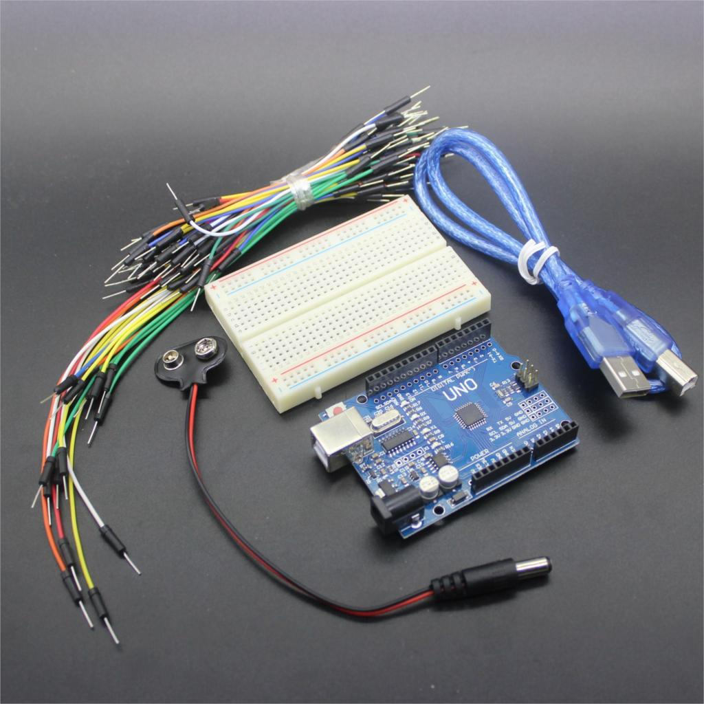 Starter kit for arduino uno r bundle of items