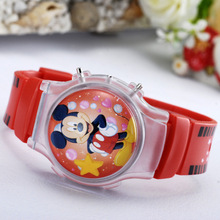 Hot selling fashion boys girls mickey minnie cartoon watch for children silicone digital watches for kids christmas gift clock(China (Mainland))