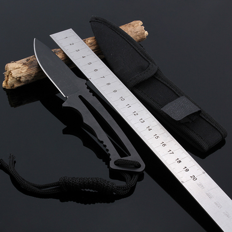 New!!! Fixed Blade Knife camping Knife 3Cr13 Blade Titanium hunting Knives 55HRC<br><br>Aliexpress