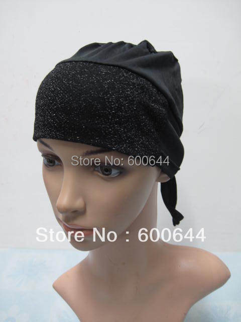 Free Shipping 12 Pieces/Lot Muslim Inner Hijab Caps Islamic Under Scarf Hats(China (Mainland))