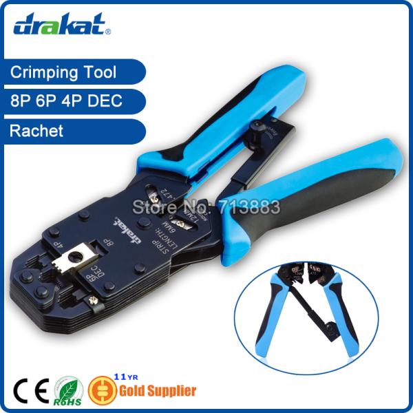UTP STP Network Cable Crimp Tool RJ45 RJ11 RJ12 Ratchet TL-2008AR(China (Mainland))