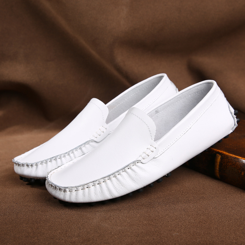 Spring Summer Classic Slip On Driving Shoes sapatos masculinos,Genuine Leather men flats shoes Soft ,Breathable mesh men Loafers