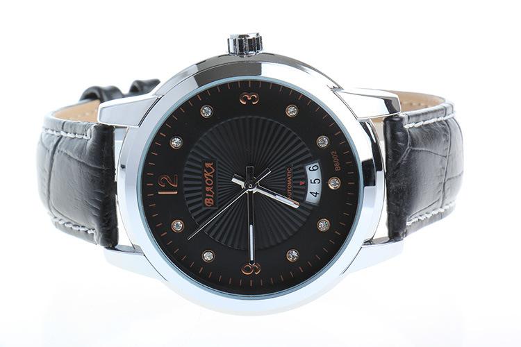 2016 НОВЫЕ марка BIAOKA мужские часы Дата Дисплей Мужской Часы новый Большой Набор золото Объектив Leahter Ремешок механические Наручные Часы Горячая продажа