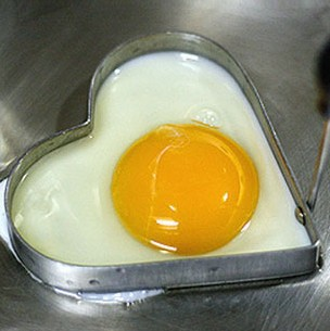 Cute Kitchen Heart Love Shaped Cook Fry Egg Mold Pancake Stainless Steel Mould #I008(China (Mainland))
