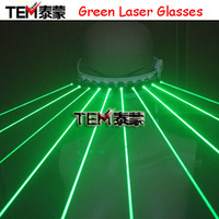 Free shipping 532nm Green Laser Glasses For Pub Club DJ Shows With 10Pcs Green Laser / LED Stage Glasses