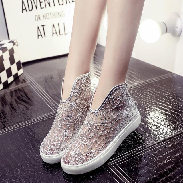 2016 мода женщин свободного покроя обувь женщина сетка дышащий туфли на платформе ...