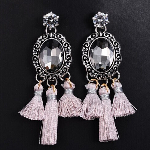 Fashion Exaggerated Big Long Tassel Vintage Dangle Drop Earrings for Women Retro Party Hanging Earrings Jewelry Holiday Gift(China (Mainland))