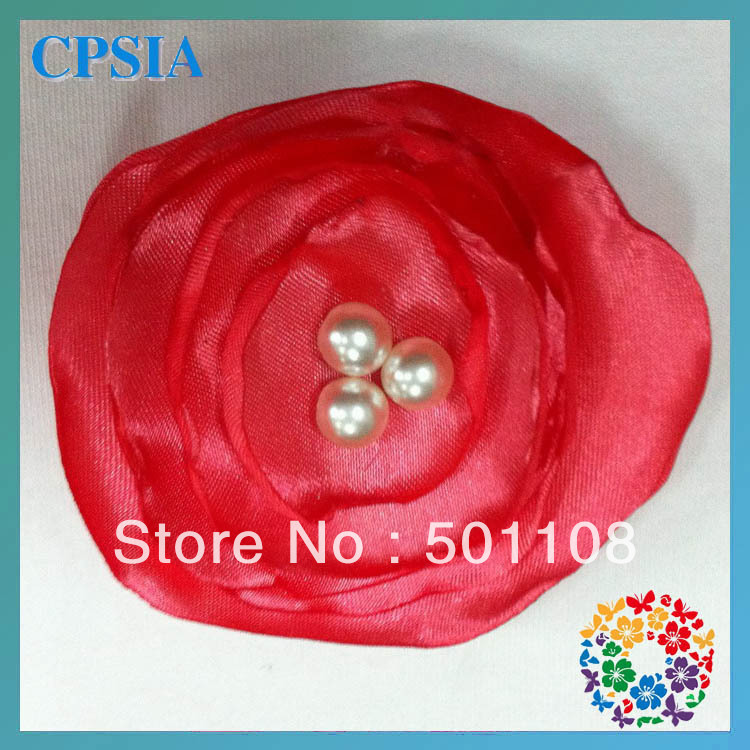 "Wholesale 2.4"" new handmade hair flower with Lotus flowers bulk and fashion flowers for girls 200pcs/lot"