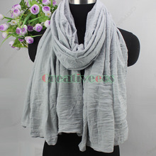 Elegant Fashion Women Girl s Solid Color Wrinkle 2 Loop Infinity Cowl Eternity Endless Circle Casual