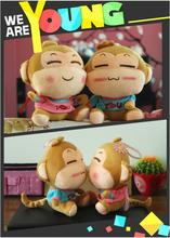 The creative plush toys lovers monkey youxihou wedding Dolls pillow large pressure bed doll free shipping