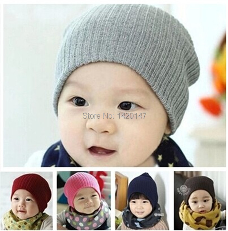 Cute Caps Baby Beanie Hat Beanies for Girls & Boys Crochet Beanie Baby Hats Beanie Baby Girl Candy Color Children Hat(China (Mainland))