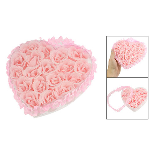 HTHL!18 in 1 Bath Body Flower Heart Favor Soap Rose Petal Wedding Decoration Party(China (Mainland))